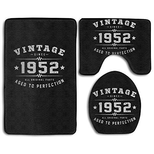 1952 Rug (HEI Vintage 1952 Birthday Skin-friendly Bathroom Rug)