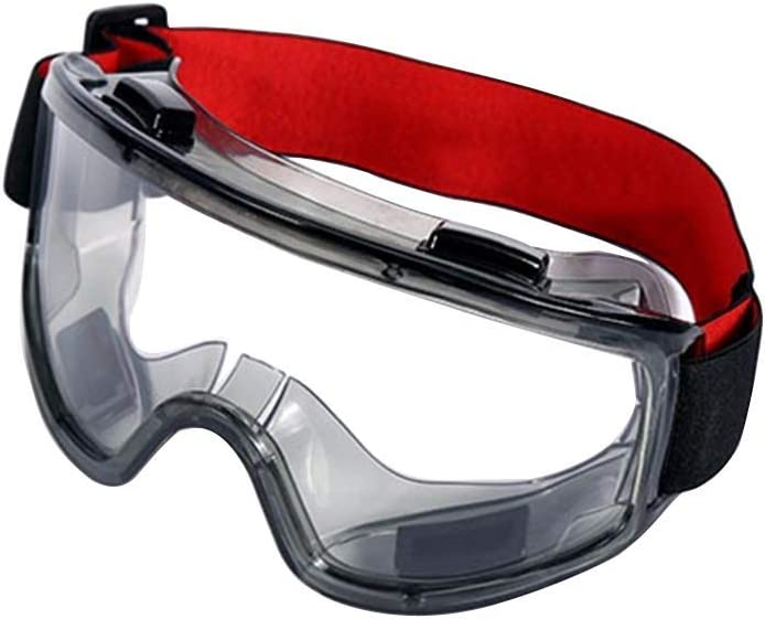 nakw88 Safety Goggles Eyewear Riding PVC Protective Glasses Mining Dust Resistant Anti Fog Eye Ergonomic Protection Clear Windproof Working Transparent