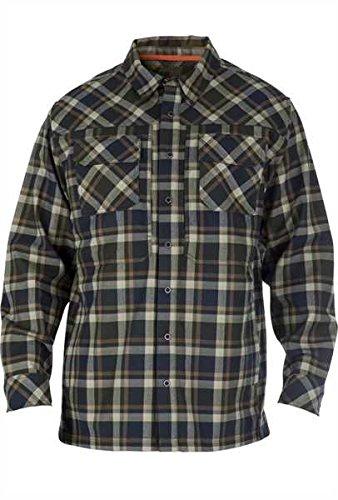 5.11 Outerwear Tactical Jackets (5.11 Men's Firecracker Flannel Jacket, Swamp, Small)