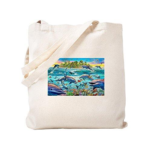 Arrecife Bolso De Lona Dolphin Caqui Cafepress Small x1ASt0qxw