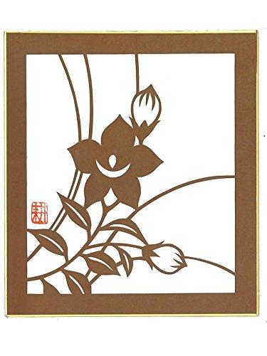 【伊勢型紙】色紙 桔梗1