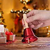 Amosfun 2Pcs Bell Bells Hand for Dinner de Mano