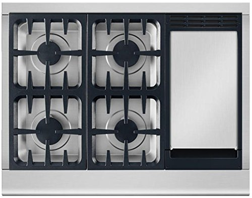 36 inch gas cooktop with griddle - 7
