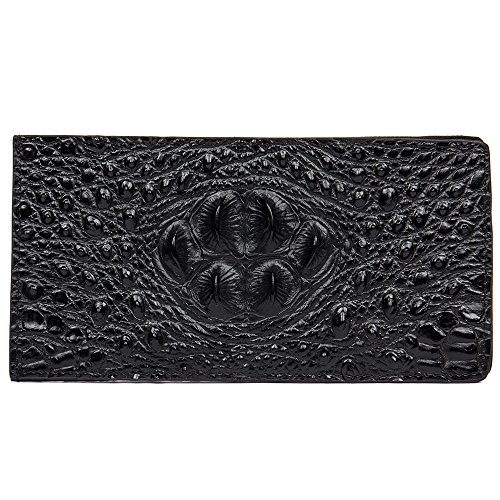 Card Crocodile High 20cmx10cmx1cm Cowhide Size Pattern quality Casual Bag Wallet Black Men's Haixin Fashion ZawxqHqU