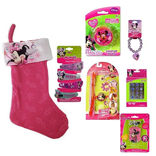 Minnie Bowtique 6 pc Children's Gift Set includes Hair Clips, 12 pk Nails, Yo-Yo, Light-Up Necklace, Beaded Bracelet Bracelets and Band Ups, ALSO INCLUDES FREE GIFT