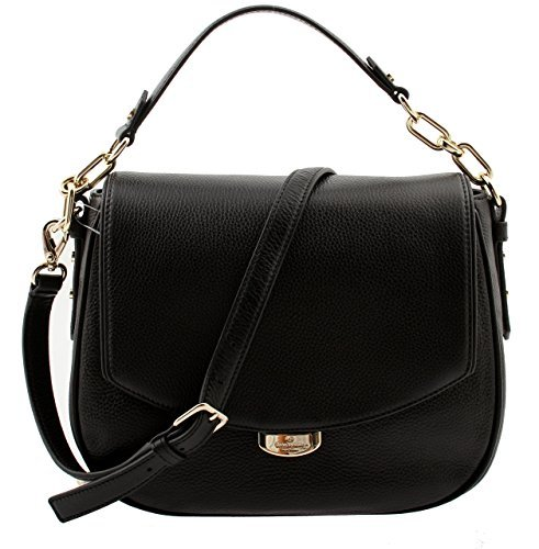 Kate Spade Mulberry Street Alecia Pebbled Black Leather Shoulder Bag, (Mulberry Leather Collection)