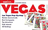 Pop-Up Las Vegas Map by VanDam - City Street Map of Las Vegas, Nevada - Laminated folding pocket size city travel and subway map (Pop-Up Map)