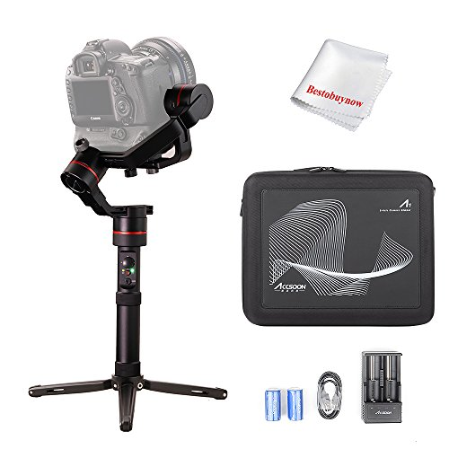 ACCSOON A1-S 3-Axis Handheld Gimbal Stabilizer for Cameras Loading 3.6KG Full Visual Without Cover Time Lapse Motion Control Function 15 Hours Runtime APP Free Firmware Update