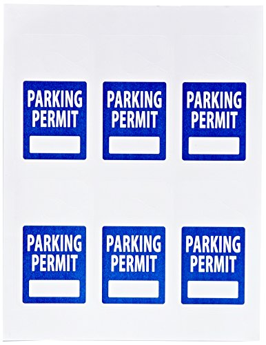 image relating to Printable Parking Pass named Pack of 150 \