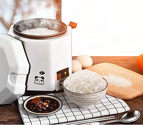 DCIGNA 1.2L Mini Rice Cooker, Electric Lunch Box, Travel Rice Cooker Small, Removable Non-stick Pot, Keep Warm Function, Suitable For 1-2 People - For Cooking Soup, Rice, Stews, Grains & Oatmeal (White) by DCIGNA (Image #5)