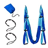 Hi Suyi Anti-Gravity Aerial Yoga Silks Hammock Flying Swing Yoga Pilates Set Kit Include Steel Carabiners Extension Straps(Aerial Yoga Ceiling Mount Optional)