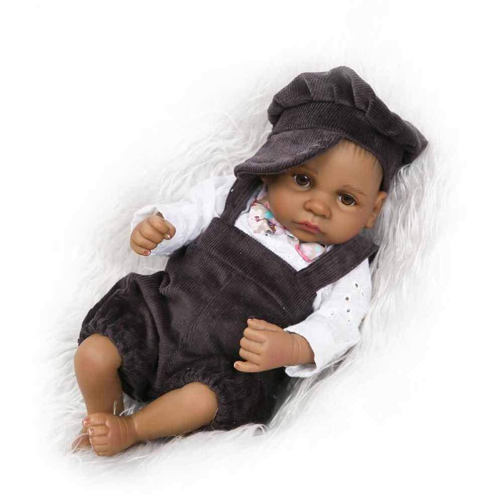 CHENG Mini Reborn Baby Doll Realistico Silicone Real Touch con Vestiti Toy Toddler Set Regalo da 10 Pollici,Boy