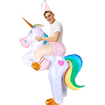 XXLLQ Disfraz Inflable De Unicornio Traje De Cosplay Fiesta ...