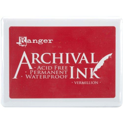 Ranger A3P-30522 Archival No.3 Jumbo Inkpad, Vermillion