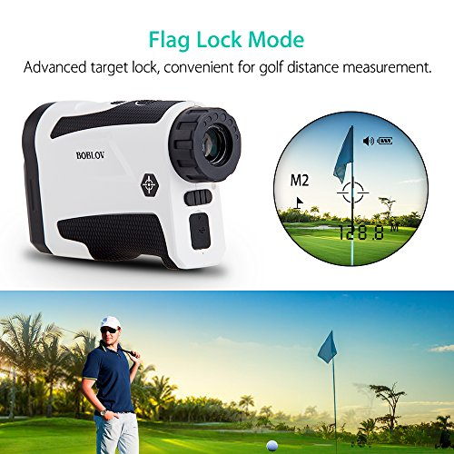 BOBLOV 650Yards Golf Rangefinder with Pinsensor Distance Speed Measurement Range Finder +/-1M Precision Support Vibration on/off and USB Charging Flag Lock by BOBLOV (Image #1)