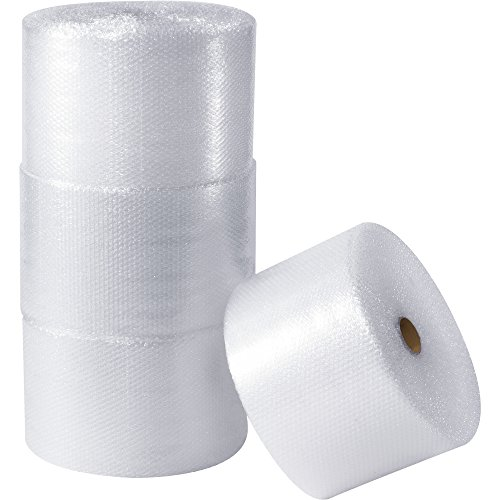 BOX USA BBWUP12S12 UPSable Air Bubble Rolls, 1/2'' x 12'' x 125', Clear (Pack of 4) by BOX USA