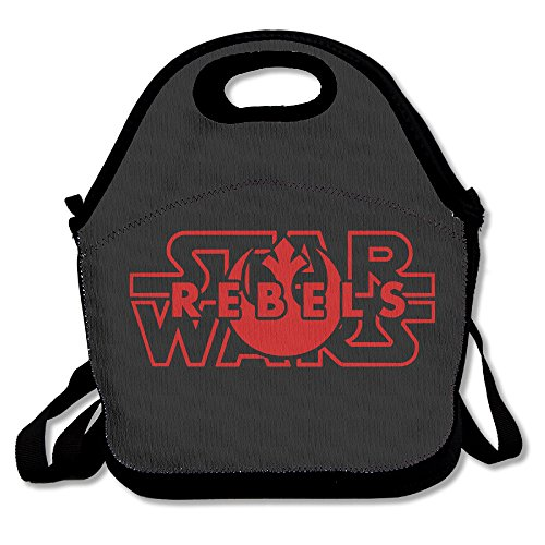Star Rebels Wars Lunch Bag Travel Zipper Organizer Bag, Waterproof Outdoor Travel Picnic Lunch Box Bag Tote With Zipper And Adjustable Crossbody Strap