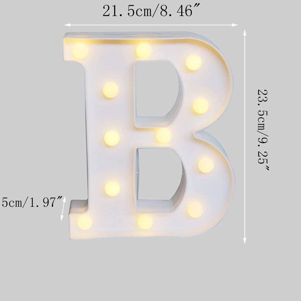plastica A-Z bianco lettera decorativa per compleanno festa di nozze decorazione della camera da letto interni bar DO4U alfabeto lettere LED Sign