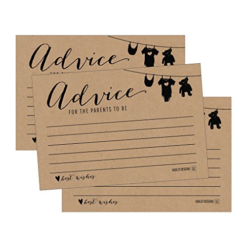 25 Rustic New Mommy or Parent Advice Cards For Baby Shower Game Activities Ideas, Expecting Words of Wisdom Message for Parent To Be Boy Girl Co-Ed Couples Gender Reveal Keepsake Alternative Guestbook Photo #1