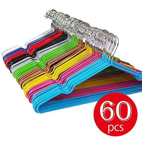 (Lomani 60-Pack Clothes Hangers Nano-Dip Non Slip Hangers Space Saving, No Shoulder Bump Suit Hangers, Excellent for Men Women Clothes Rack)