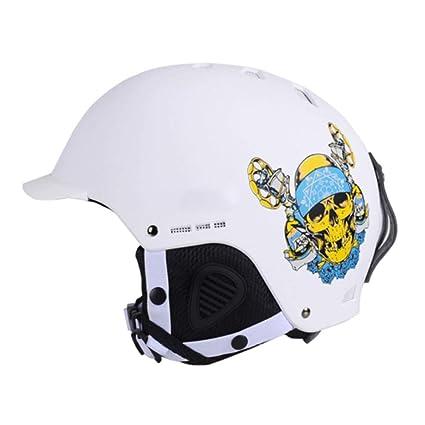 FAFY Casco De Esquí Cascos De Snowboard Moldeados Integralmente Patinaje Monopatín Esquí Hombre/Mujer /