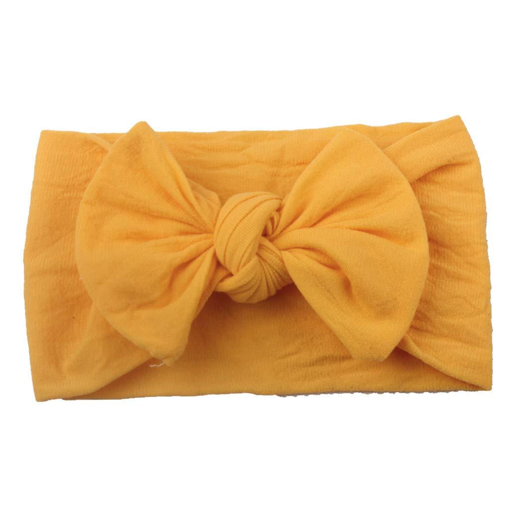 Mitlfuny Unisex Baby Kinder Jungen Zubeh/ör S/äuglingspflege,M/ädchen Baby Kleinkind Turban Feste Stirnband Haarband Bow Zubeh/ör Headwear