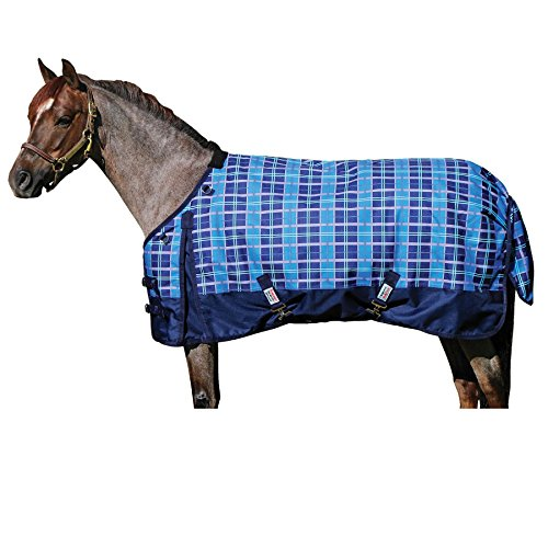 Dura-Tech Viking Pony Print Midweight Turnout Size 52 Blue ()