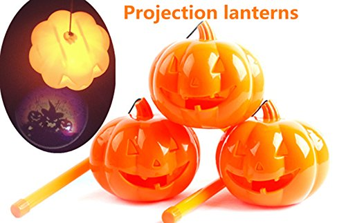 Halloween Pumpkin Projection Lantern Portable Ghosts Sound and Flash Shadows Lights Party Prop Decoration Lamp