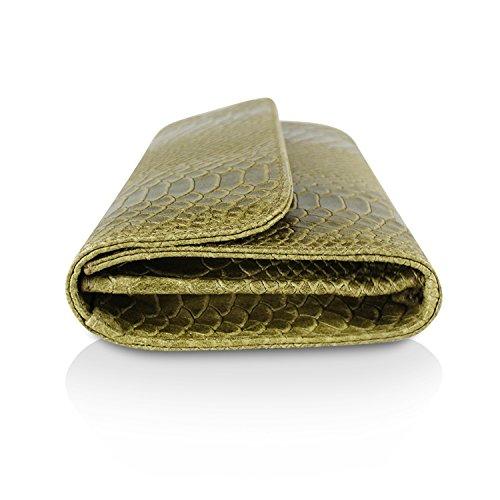 Borsa Da Made Elegante Clutch A 1 Borsetta Verde In Tracolla Donna Palle Italy Mano Glamexx24 Casual Vera B7xvBd