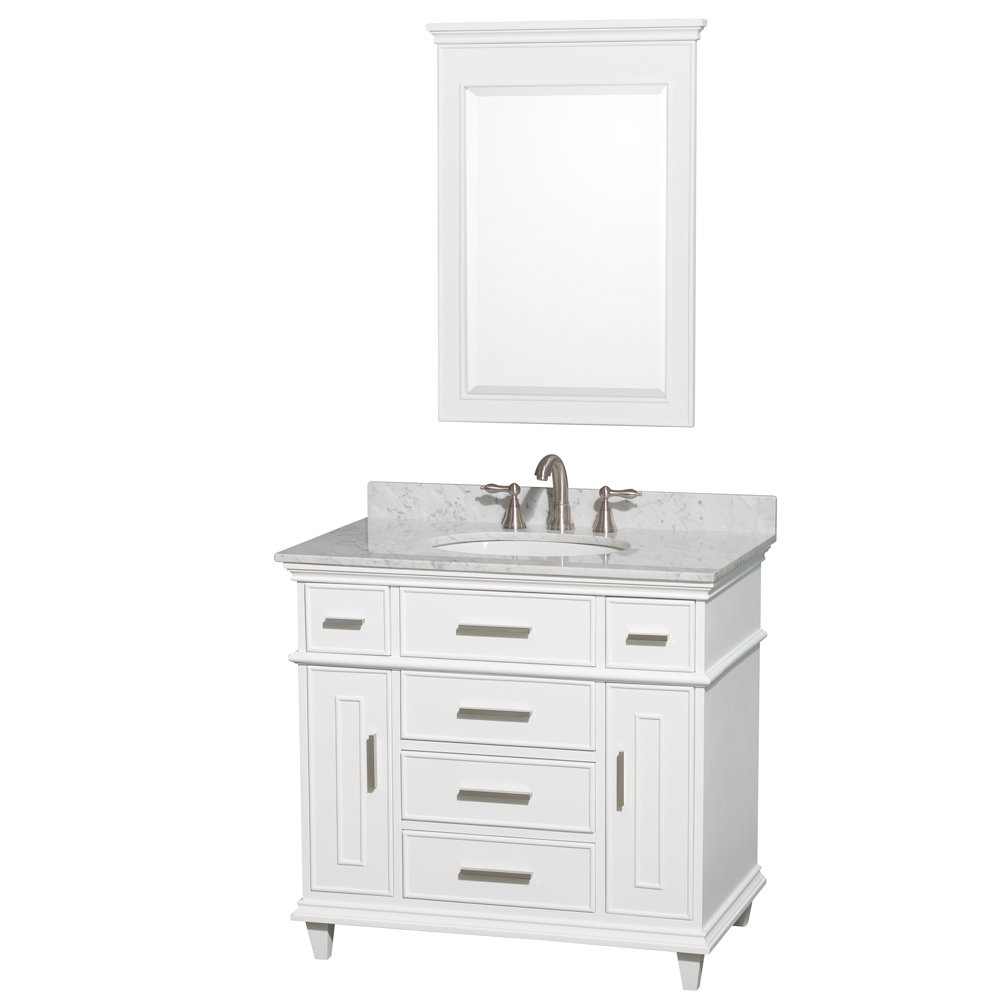 Etonnant Amazon.com: Wyndham Collection Berkeley 36 Inch Single Bathroom Vanity In  White With No Countertop, No Sink, No Mirror: Home Improvement