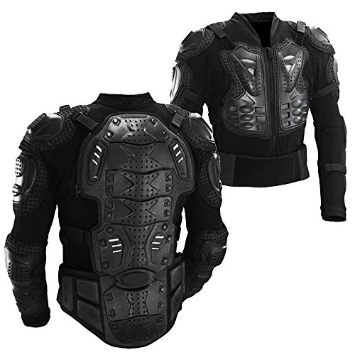 - Motorcycle Full Body Armor Protective Gear Jacket Street Motocross ATV Guard MTB Racing Shirt Jacket Protector Pro for Men (Black, XXL)