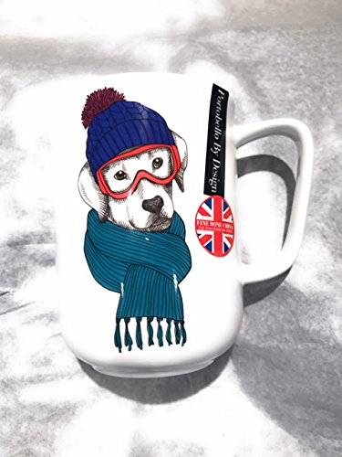 Portobello Ski Lab Dog With Scarf and Goggles Bone China ()