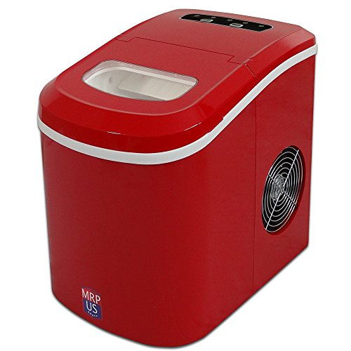 MRP US Portable Ice Maker Counter-top Ice Machine With 2 Selectable Cube Size (New)- IC605 (Red)