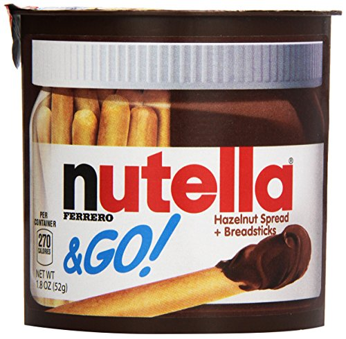 Ferrero Nutella & Go Hazelnut Spread with Breadsticks, (24 Count)