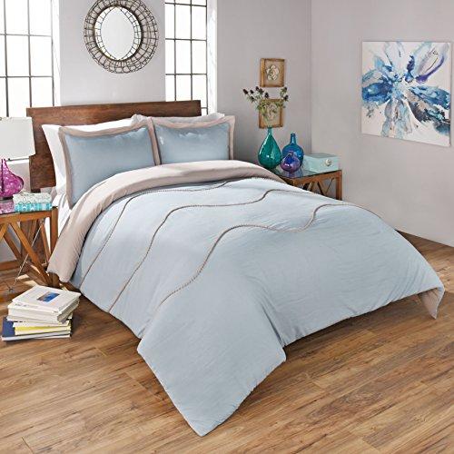 Sapphire Mushroom - Vue 15496BEDDTXLMSH Sapphire 90-Inch by 68-Inch 2-Piece Twin Comforter Set, Mushroom