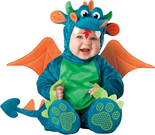InCharacter Baby Dinky Dragon Costume, Teal/Green, Medium (12 - 18 -