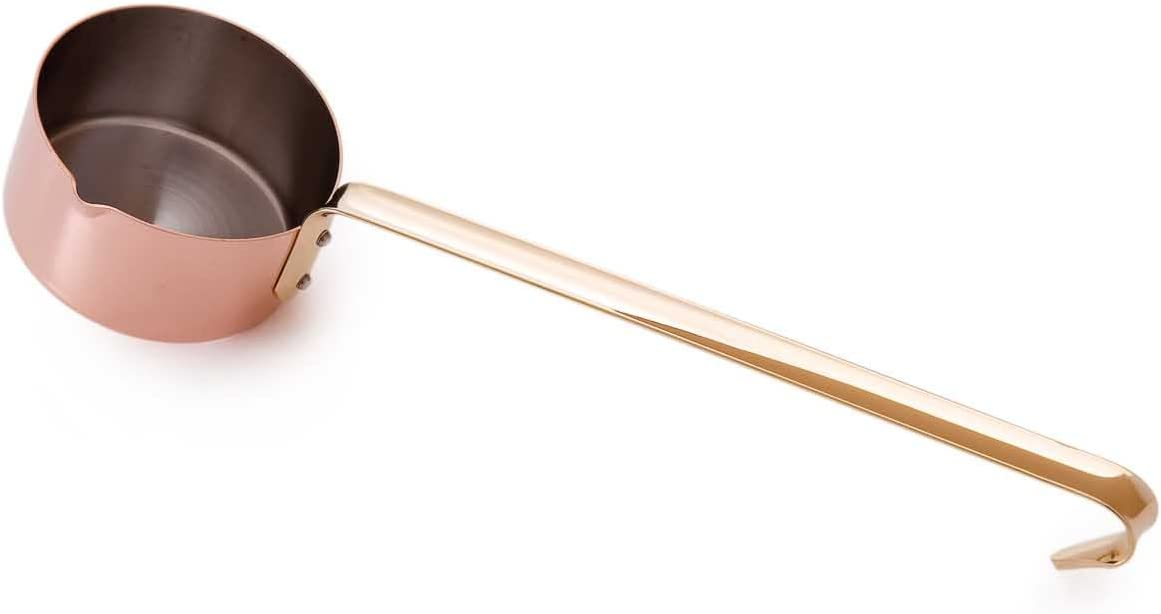Mauviel Made In France M'Heritage Copper M150B 0.3-Quart Small Saucepan with 13.6-Inch Long Handle