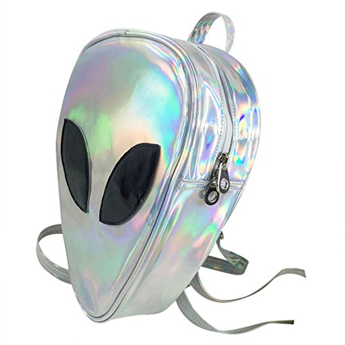 - Aibearty Alien Backpack Holographic Triangle Rucksack Casual Bag