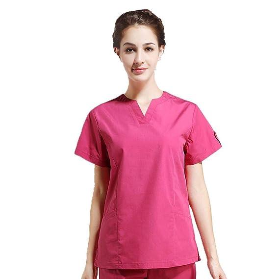 aeb3a5e5b90 QZTG Medical coat Women s Hospital Medical Scrub Clothes Set Dental Clinic  and Beauty Salon Nurse Uniform Care Surgery Health Care