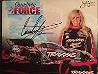 Courtney Force autographed 2015 Hero Card And NHRA Signed Proof Pic - Autographed NASCAR Cards by Sports Memorabilia