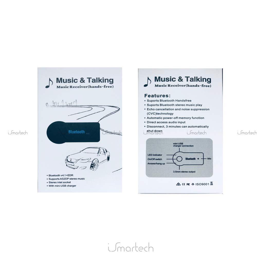 Handy Tablet Radio Smartphone KFZ Auto Aux 3.5 mm Klinke Saxonia Bluetooth Empf/änger Adapter V3.0 Mini Dongle Stereo Audio Receiver f/ür Heim