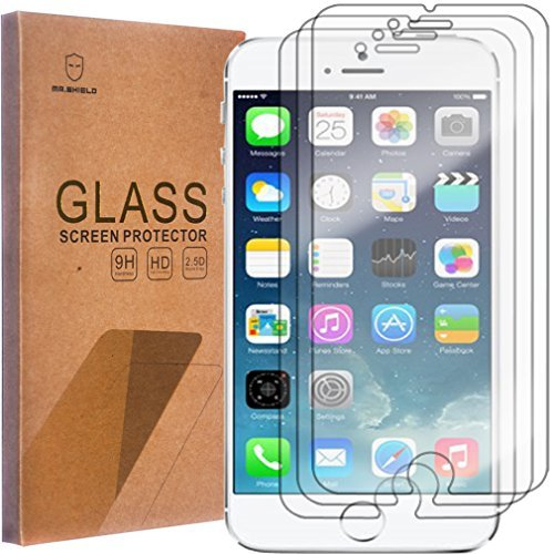 [3-Pack]-Mr Shield iPhone 6/iPhone 6S [Tempered Glass] Screen Protector Lifetime Replacement Warranty