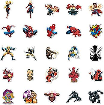 50pcs Marvel Avengers Stickers Decoration Phone Children Luggage