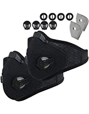 Dust Mask - Dustproof Face Mask, Reusable Activated Carbon Dustproof Masks with Extra Carbon N95 Filters for Pollen Woodworking Construction Mowing Running Riding Outdoor Activities