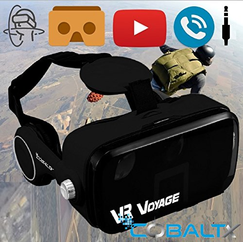 COBALTX 360 Video VR Headset 360 Virtual Reality Glasses for iPhone Android Smartphone VR Box 3D VR Headset Glasses with…