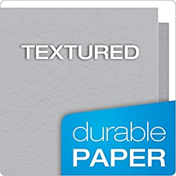 Oxford Twin Pocket Folders with Fasteners, Letter Size, Gray, 25 per Box (57705)