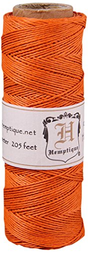 Hemptique 5070811 Hemp Cord Spool Orange, 10 lb. (Orange Hemp)