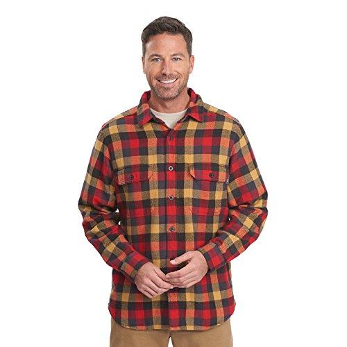- Woolrich Men's Oxbow Bend Flannel Shirt, Multi Buffalo, X-Large