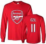 Tcamp Arsenal Shirt Mesut Ozil #11 Jersey Men's Long Sleeve T-shirt