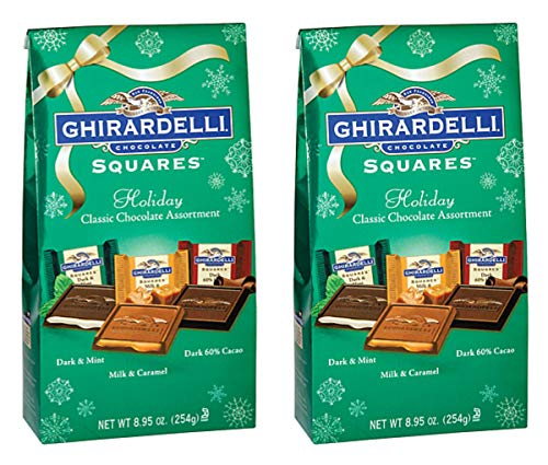 - Ghirardelli Chocolate Squares Holiday Classic Assortment 8.95 oz Bag (2-Pack)